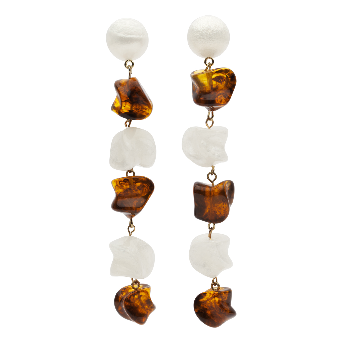 Amber Sceats Tortoiseshell Pearl Resin Mandi Earrings