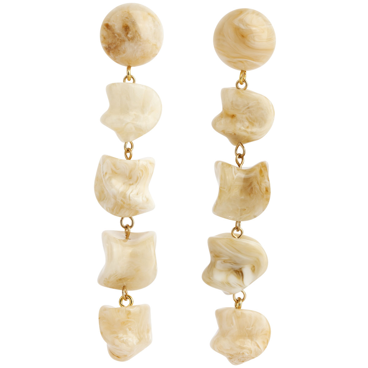 Amber Sceats Coffee Resin Mandi Earrings