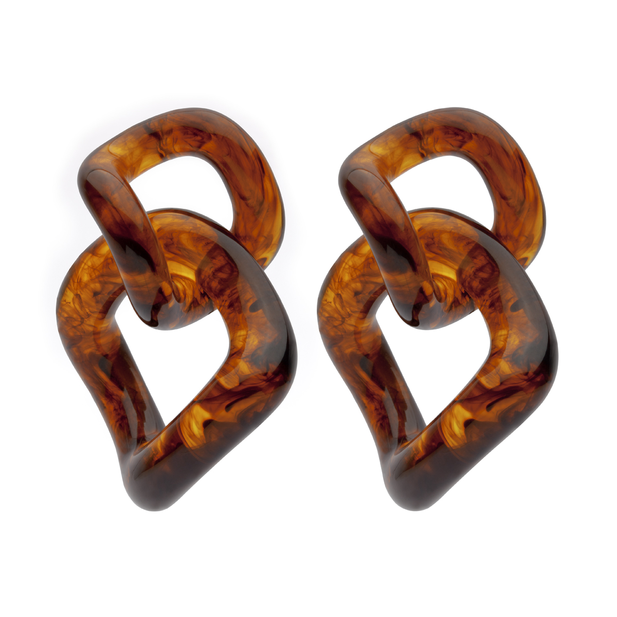 Amber Sceats Tortoiseshell Resin Eva Earrings