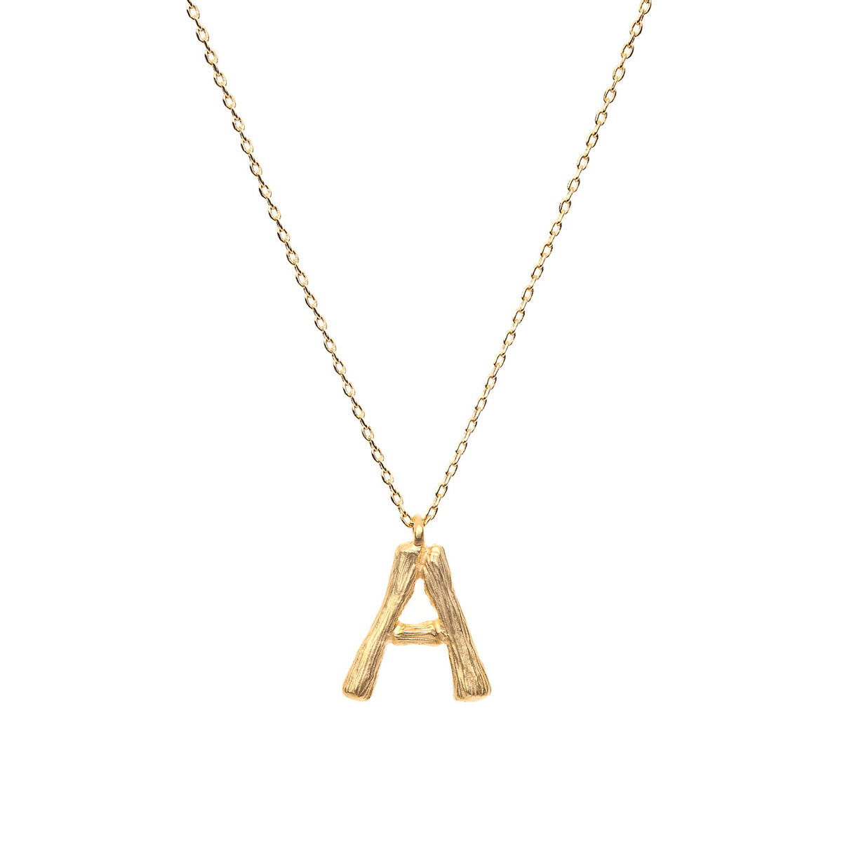 Amber Sceats Gold Letter Necklace